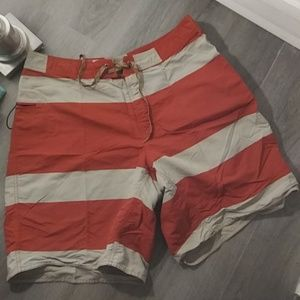 Men's PATAGONIA Orange beige Board Shorts Sz 40